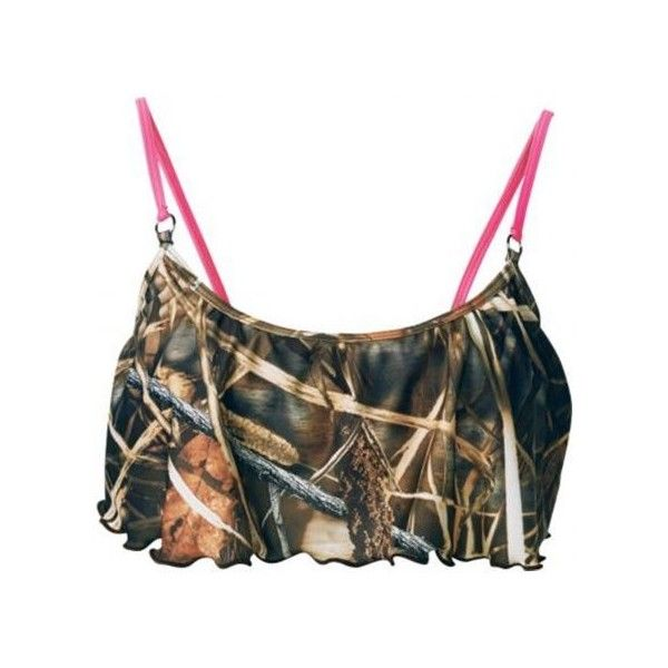 Camo Bathing Suits For Girls   Realtree Camo Swimsuit top With... ($42) ❤ liked on Polyvore