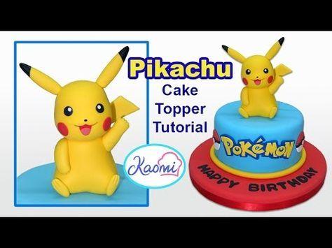 Tutorial - Como hacer a Pikachu con fondant - Pokemon | Mi tarta preferida - YouTube