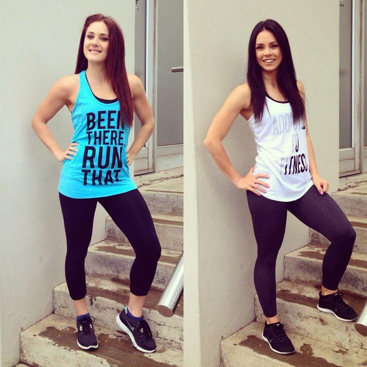 Fitness fashion. Graphic gym tee.