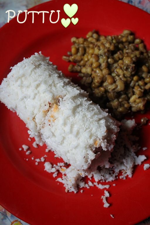 Puttu, Payar and Pappadam Recipe / Puttu Recipe / Rice Puttu Recipe