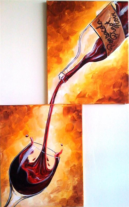Another idea for the wine room  Orlando Painting Class Gallery - Painting with a Twist - Painting with a Twist