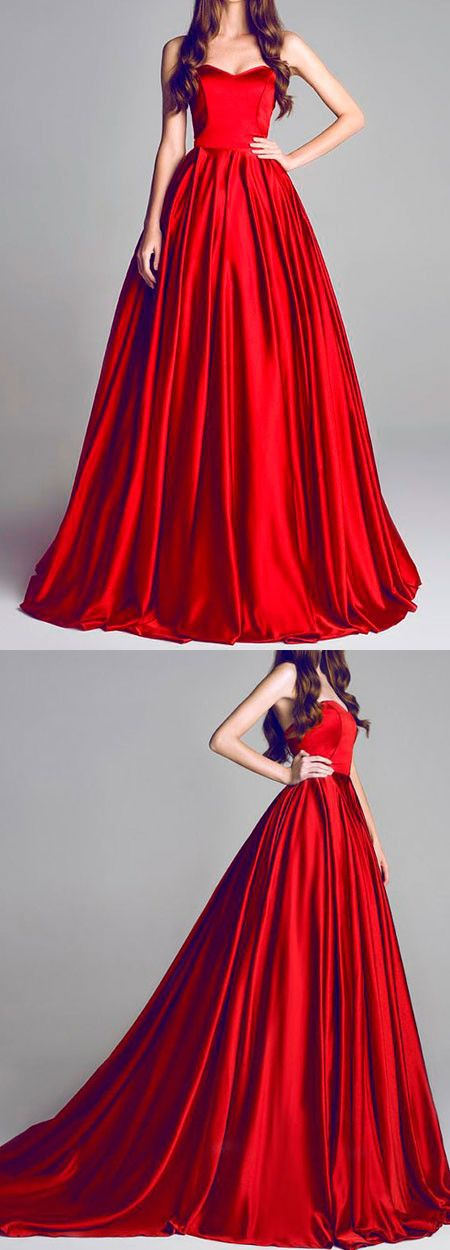 Evening dress red riding