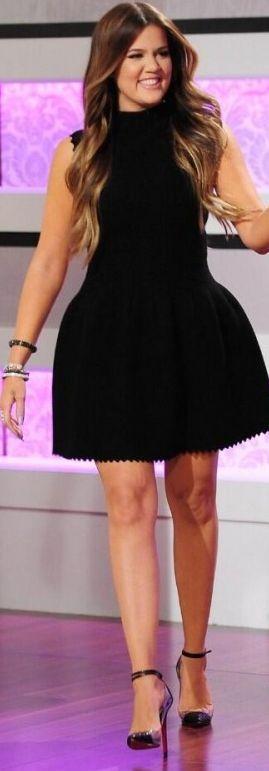 Khloe Kardashian: Dress – Alaia Shoes – Christian Louboutin