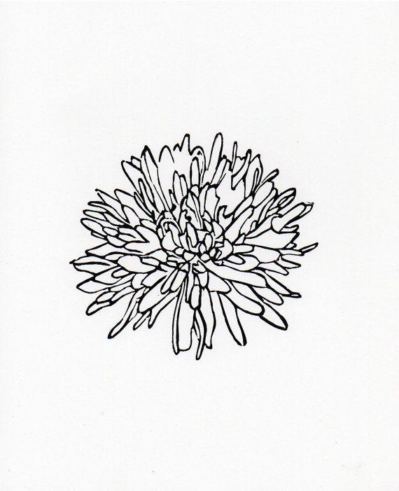 Flower 3 linocut print 8 x 10 by WeThinkSmall on Etsy, $15.00