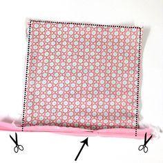 Anleitung Schnittmuster Kissen nähen mit Reißverschluss oder Knopfleiste