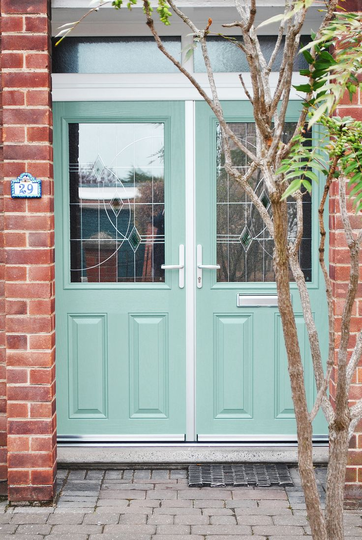 33 best chartwell green front doors images on pinterest for Upvc french doors with top light
