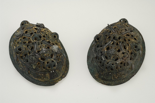 tortoise brooches from a grave find in Björkö, Sweden (Historiska museet, Sweden)