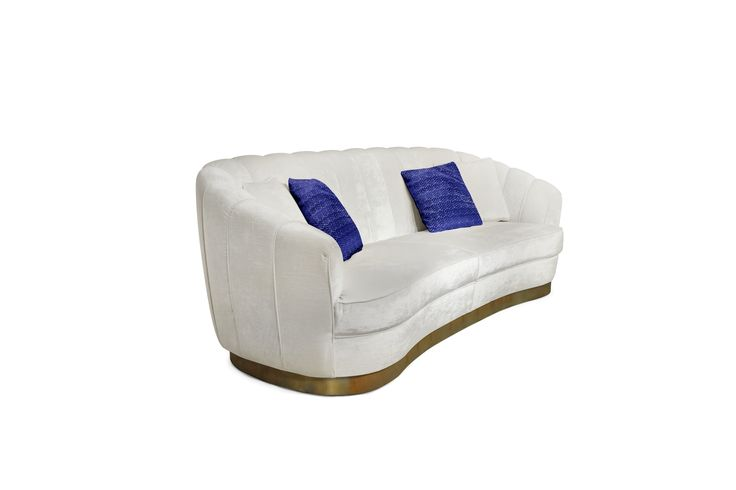 Pearl sofa |  This contemporary sofa offers a delicate and surprising touch, as rare as what is found inside a smooth oyster | more inspiring images at http://diningandlivingroom.com/