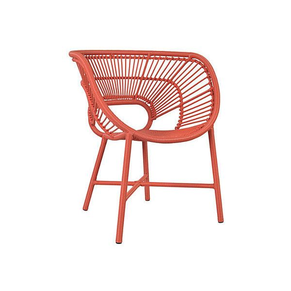 Kasiya Outdoor Chair Red Outdoor Deck Chairs ($449) ❤ Liked On Polyvore  Featuring Home, Outdoors, Patio Furniture, Outdoor Chairs, Orange, Red Patio  ...