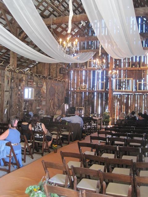 barn wedding barn ceremony by Celadon Events, via Flickr