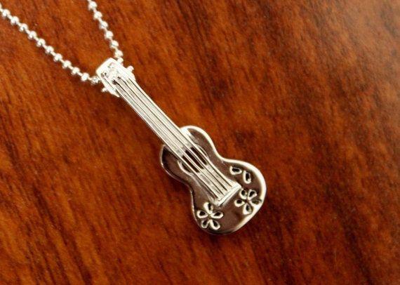 Hawaiian collier pendentif en argent Sterling 925 UKULELE guitare hawaiienne sur Etsy, 18,50 €