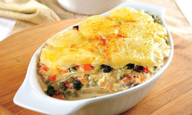 Batata gratinada com vegetais :3