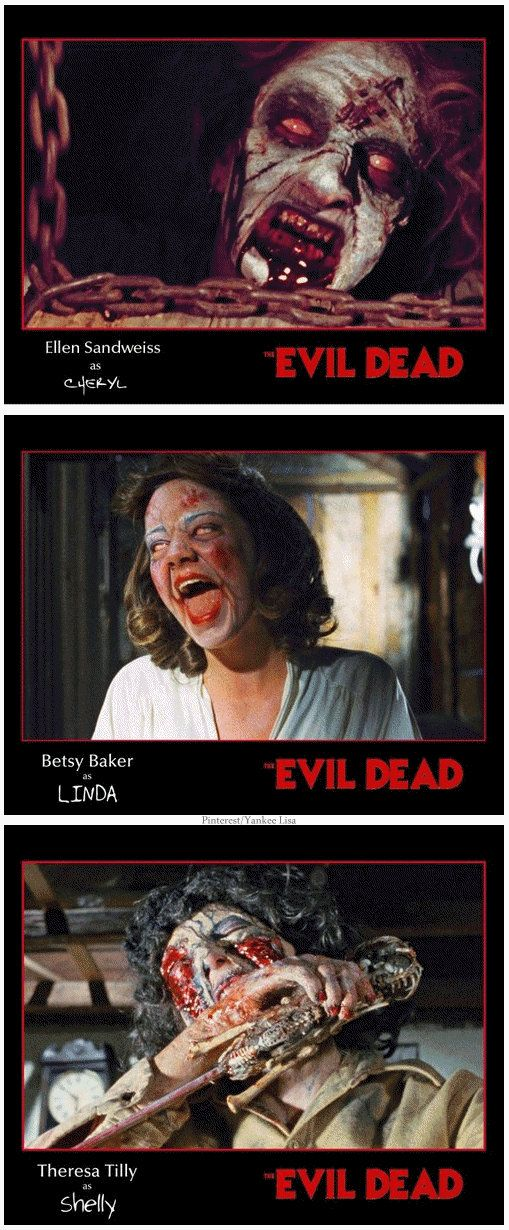 Betsy Baker's Linda was a joy to watch, especially sitting eerily in the doorway, giggling to herself. #EvilDead
