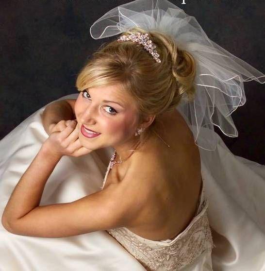 Shades of gold JL Johnson Bridal V4903 Five Layer Short Wedding Veil - Affordable Elegance Bridal -