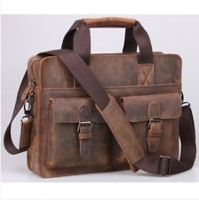 New Top Real Leather Men's Boy's Messenger Shoulder Bag SATCHEL Tote Briefcase  eBay