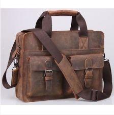 New Top Real Leather Men's Boy's Messenger Shoulder Bag SATCHEL Tote Briefcase  eBay
