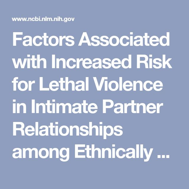Factors Associated with Increased Risk for Lethal Violence in Intimate Partner Relationships among Ethnically Diverse Black Women