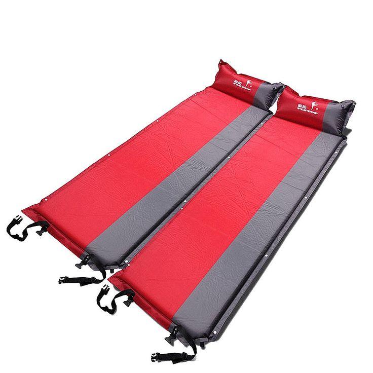 self inflating mat outdoor single camping mattress pad cushion splicing 5cm