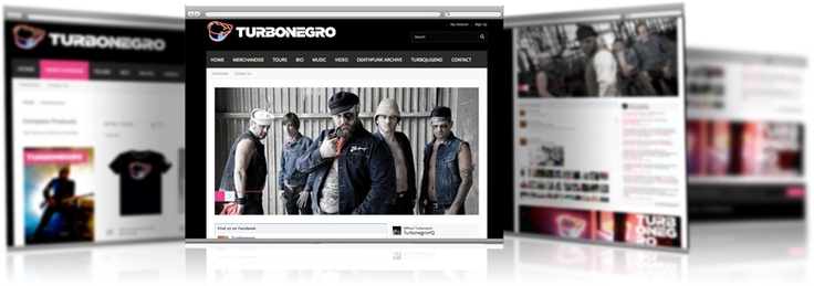 Homepage built on #Magento for the rockband @turbonegro with #webshop for their #merchandise.  #ehandel