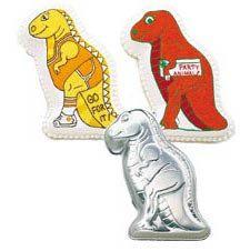 Partysauras Dinosaur T-Rex Wilton Cake Pan by FindersKeepersuscom
