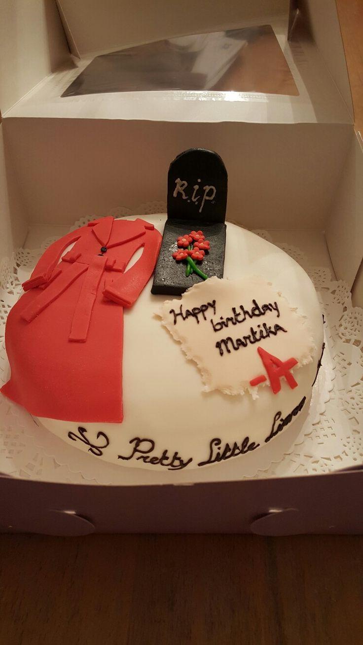 Pretty little liars taart voor Martika.