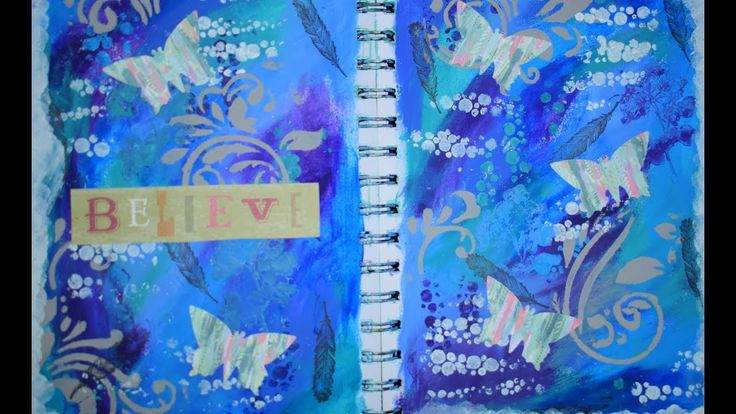 intuitive art journal page process tutorial using leftover paint