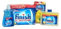 Finish Powerball Special Offer 4 Piece Dishwasher Pack This is a special Finish pack that contains: 1 x detergent tablets 26 pack, 1 x dishwasher cleaner 250ml, 1 x rinse aid 250ml and 1 x dishwasher deodorant