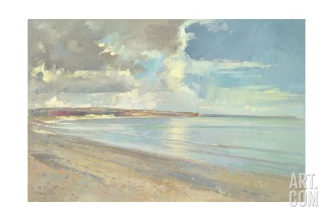 Reflected Clouds, Oxwich Beach, 2001 Giclee Print by Timothy Easton at Art.com