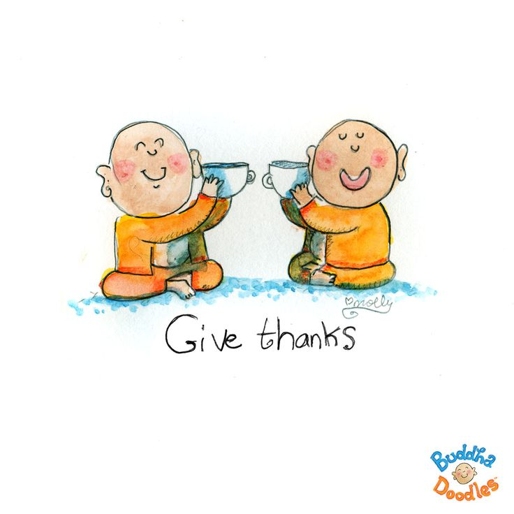 Today's Doodle - gratitude now! Give thanks.