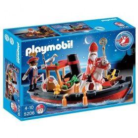 Playmobil Sinterklaas met stoomboot