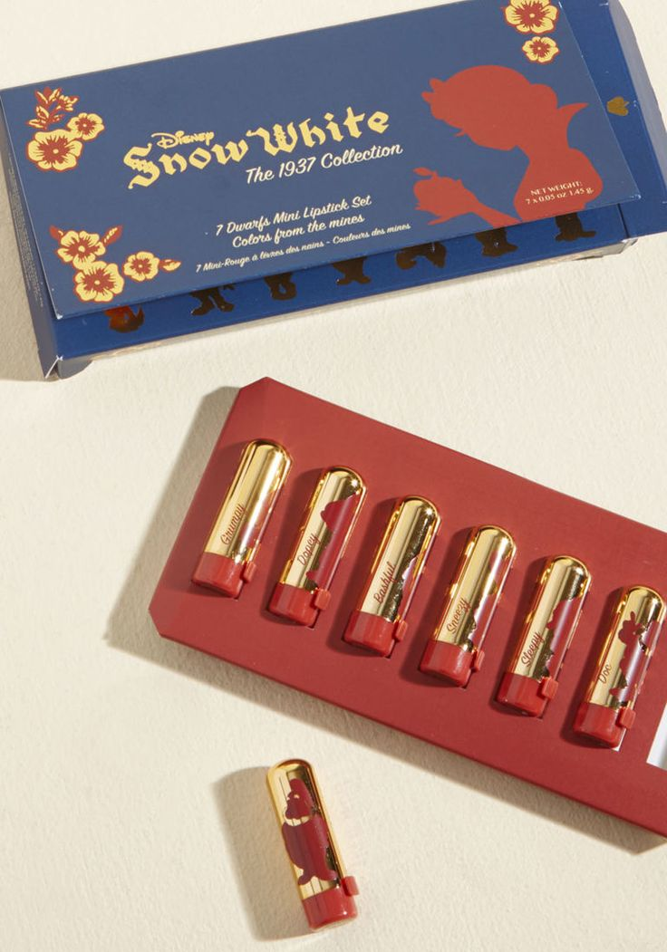 Besame Storybook Smile Mini Lipstick Set by Besame Cosmetics from ModCloth