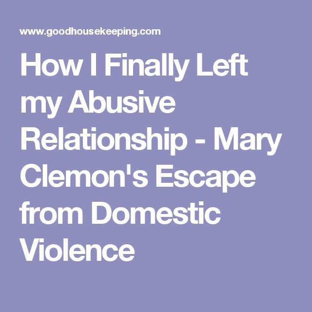 how to finally end an abusive relationship