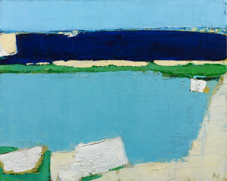 Nicolas de Staël, Marine à Dieppe, 1952, huile sur toile, 65 x 81 cm, collection privée, courtesy Galerie Applicat-Prazan © cliché Art Digital Studio © Adagp, Paris, 2014.