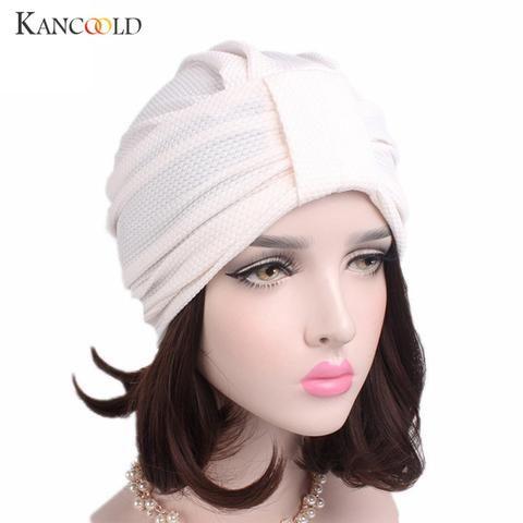 9f568a7f4f3 Caps hat female womens beanie turban autumn winter hat female women Hat  Scarf Turbans Ladies black beanies Head Wrap Cap NO24A