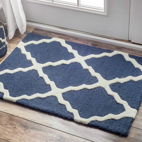 nuLOOM Hand-hooked Alexa Moroccan Trellis Wool Door Mat Rug (2' x 3')