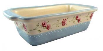 Ceramiczna forma do pieczenia ze wzorem w różyczki - Vintage Style - Pataki Keramia