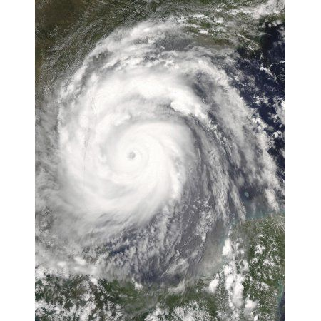 Hurricane Emily approaching Mexico and Texas Canvas Art - Stocktrek Images (25 x 31)