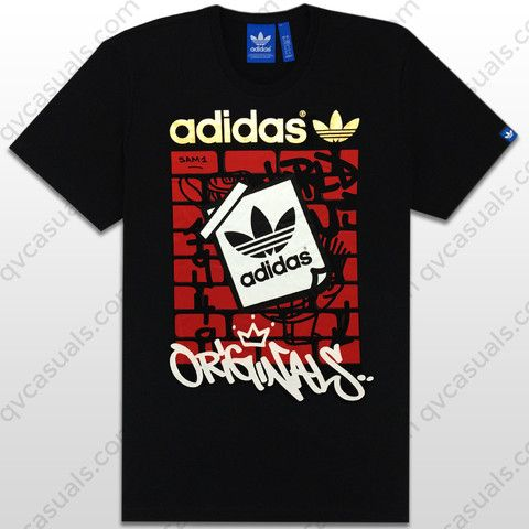 adidas Originals Mens G Off The Wall Trefoil T-Shirt Z87589 at QV casuals. Specialists in rare and hard to find adidas Originals graphic tees.