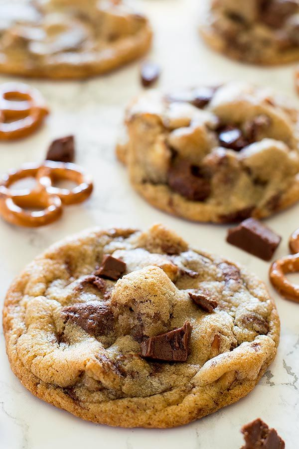 Salted Pretzel and Nutella Chip Cookies