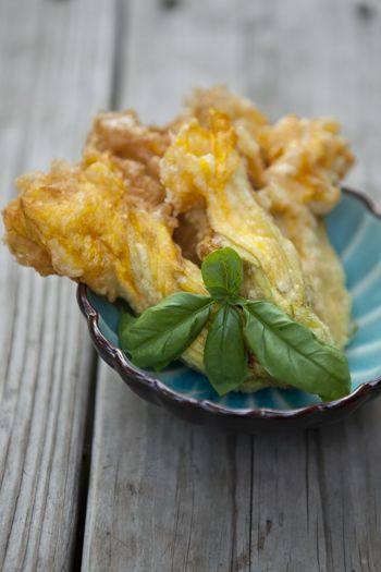 fried cheese squash blossoms