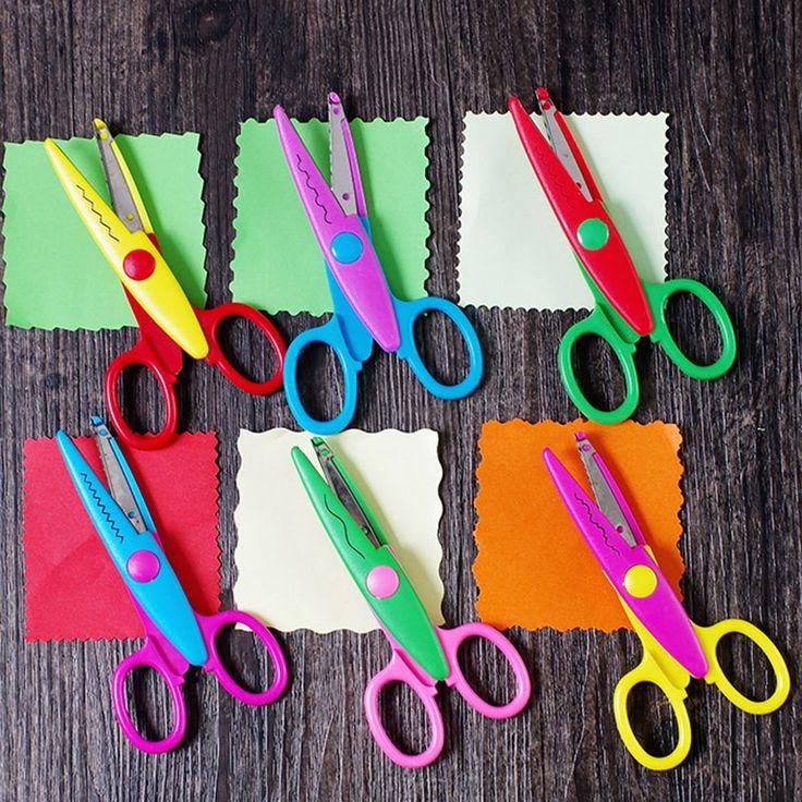 Hàn quốc TỰ LÀM chind handmade An Toàn công cụ Kéo Laciness kawaii Scrapbooking Photo Màu Sắc Cắt Kéo đồ dùng học tập