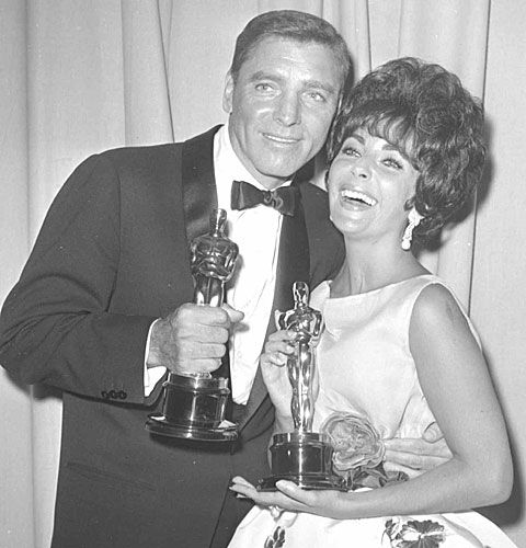 """Elizabeth Taylor won the same year as Burt Lancaster  for her first academy award for """"Butterfield 8"""" 1960.  Her second academy award was for """"Who's Afraid of Virginia Wolf"""" 1966"""