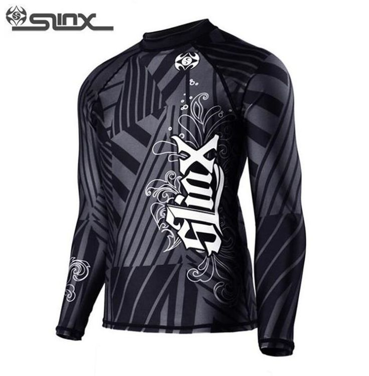 SLINX 0.5mm Lycra Tankinis Printed Wetsuit Men Long Sleeve Rash Guard Sunscreen Anti UV Swimwear Diving Skin Beachwear #Affiliate