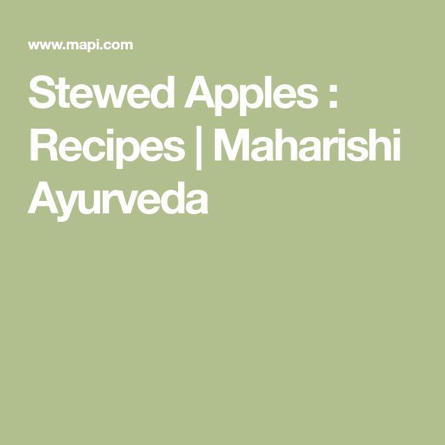 Stewed Apples : Recipes | Maharishi Ayurveda