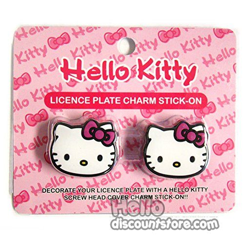 Hello Kitty Decor CAR License Plate Screw Cover Charm Stick-on 2pcs - http://www.caraccessoriesonlinemarket.com/hello-kitty-decor-car-license-plate-screw-cover-charm-stick-on-2pcs/  #2Pcs, #Charm, #Cover, #Decor, #Hello, #Kitty, #License, #Plate, #Screw, #Stickon #Hello-Kitty