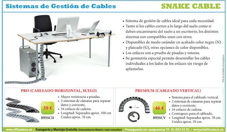 Snake Cable Sistemas de Gestión de Cables, sistema de gestión de cables ideal