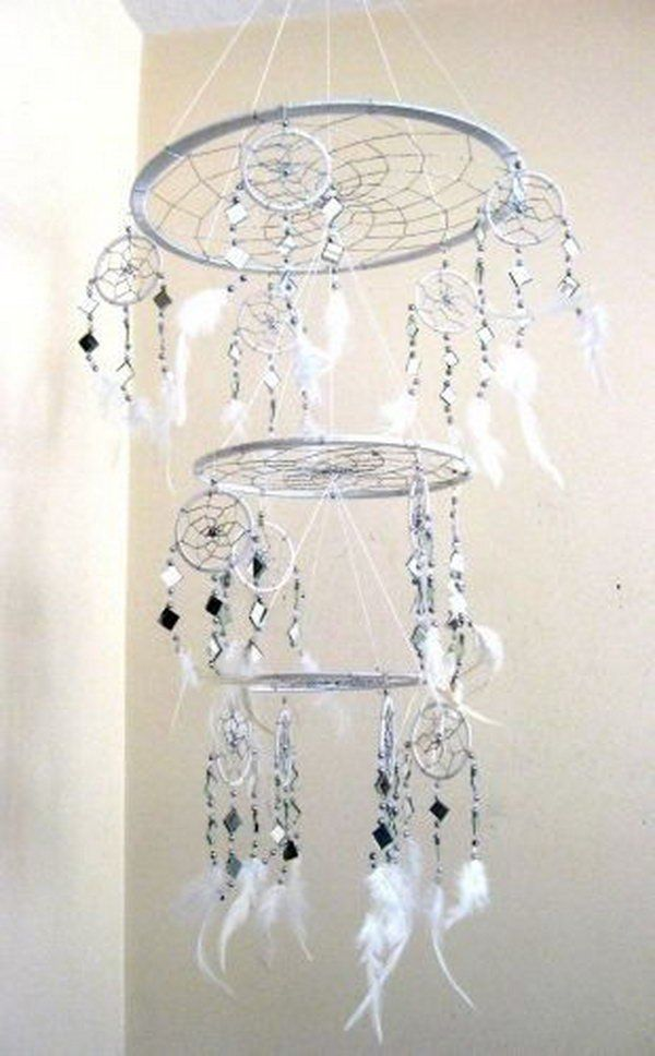 25 unique dream catcher mobile ideas on pinterest dream for How to make dreamcatcher designs