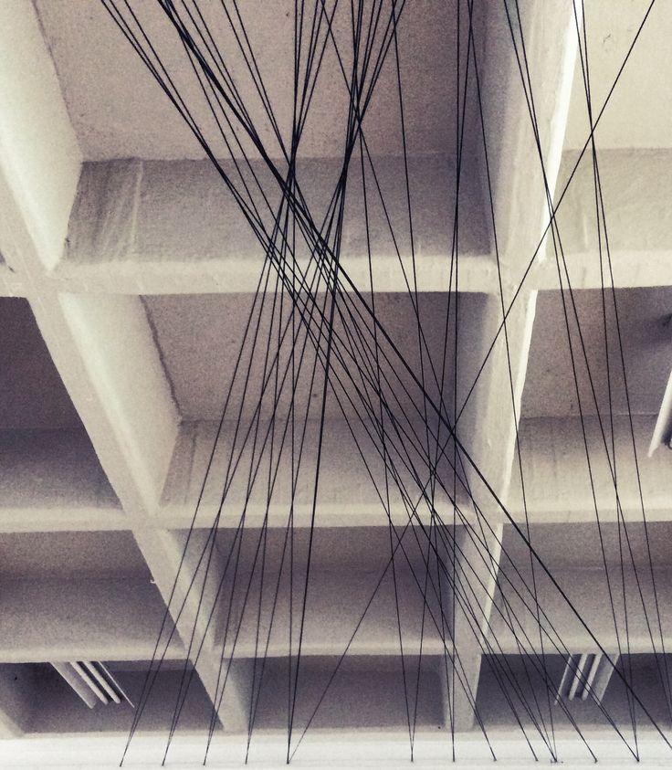 Designer Space/ installation art / líneas que comunican / designer