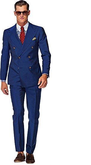ダブルスーツの着こなしブルーのSpring/Summer 2014 Suits | Suitsupply Suit_Blue_Plain_Madison_P3804