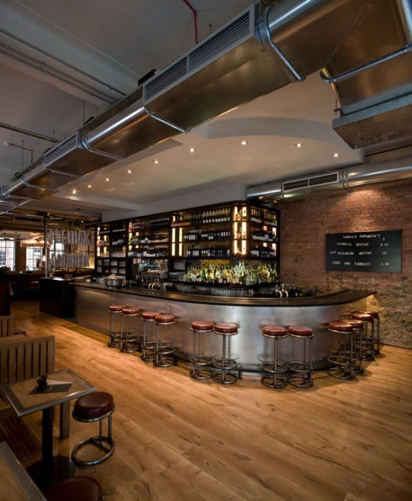 Curved Bar With Metal Apron Coffee Bars Restaurant Design